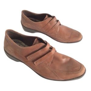 40 ECCO MENS English leather loafers oxfords shoes